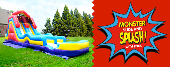 Monster Slide And Splash With Pool